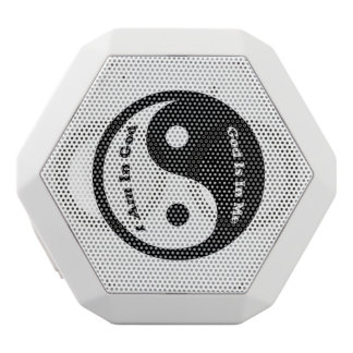 God Is In Me White Bluetooth Speaker