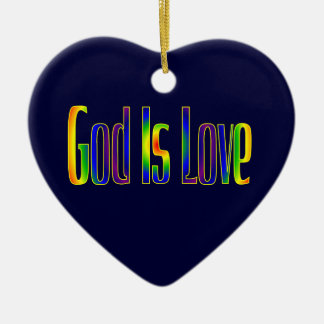 God Is Love Ceramic Heart Decoration