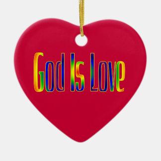 God Is Love Ceramic Heart Decoration