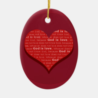 God is Love Ceramic Oval Decoration