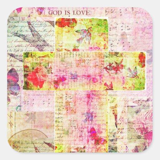 GOD IS LOVE contemporary Christian art Sticker