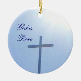 GOD IS LOVE CROSS ornament