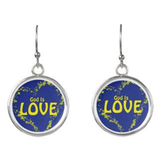 God is Love Earrings