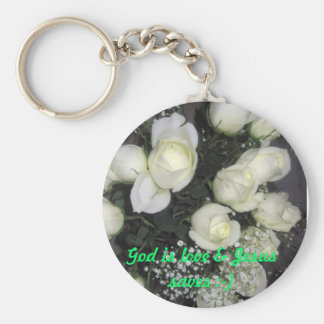 God is love & Jesus saves :-) Basic Round Button Key Ring
