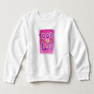 God is Love pink 1 child's sweatshirt