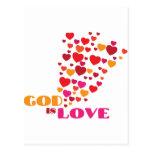 GOD is Love Postcards