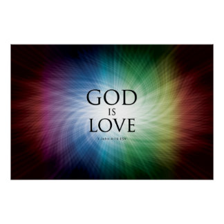 God is Love - Poster