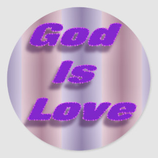 God is Love Round Sticker