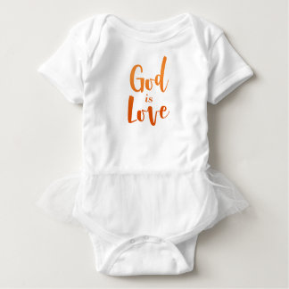 God is Love – Spiritual and Religious Baby Baby Bodysuit