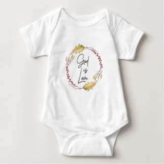 God is Love – Spiritual and Religious Baby Bodysuit