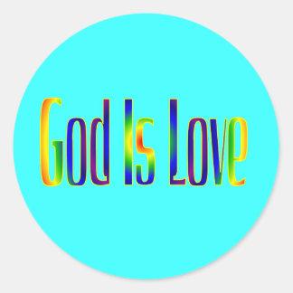 God Is Love Round Sticker