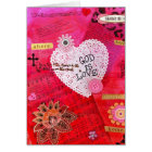 God is Love Valentine Card