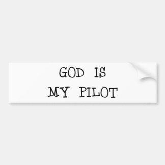 God Is My Pilot Bumper Sticker