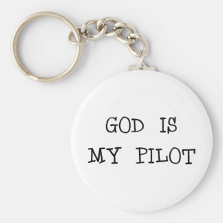 God Is My Pilot Key Ring