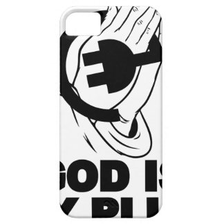 God-is-my-plug iPhone 5 Case