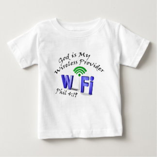 God is My Wireless Provider Phil 4:19 Baby T-Shirt
