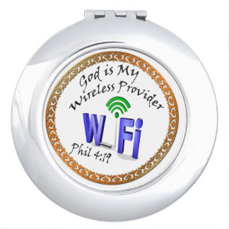 God is My Wireless Provider Phil 4:19 Compact Mirrors