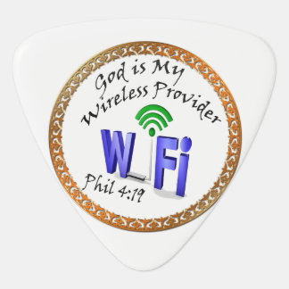 God is My Wireless Provider Phil 4:19 Plectrum
