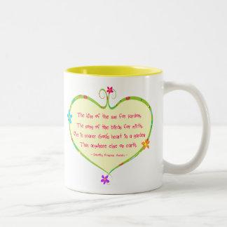 God is Nearer in a Garden Mugs
