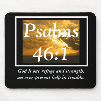 God is our refuge mouse pad