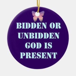 God is present ornament