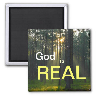 God is REAL - spiritual religious refrigerator mag Magnet