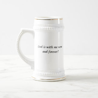 God Is With Me stein mug
