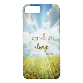 God is with you always Bible Verse iPhone 8/7 Case