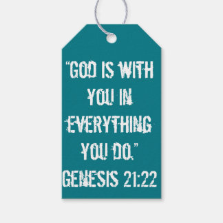 """""""God is with You"""" Scripture Gift Tag"""