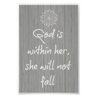 God is Within Her, She Will Not Fall Bible Verse Print