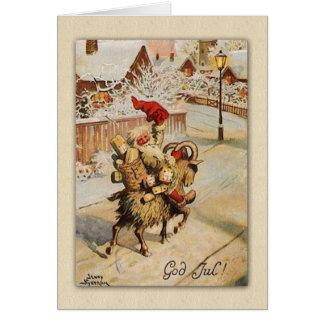 God jul | Christmas  Goat |  Sweden Nyström Card
