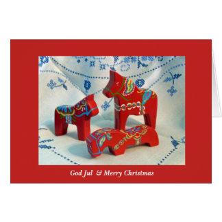 God Jul Dala Horse Card
