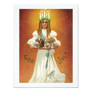 God Jul! Lucia with treats Card