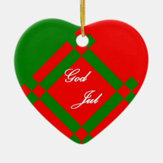 God Jul, Merry Christmas Ornament