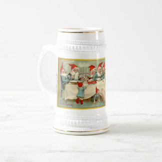 God Jul - Swedish Post Card Christmas Art Beer Stein