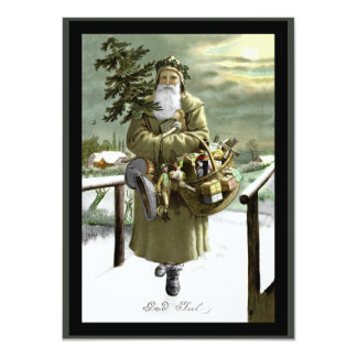 God Jul Swedish Santa Card