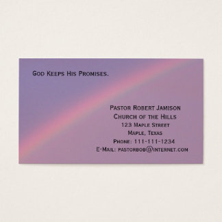 God Keeps His Promises Religious Business Card