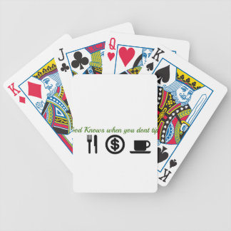 god knows when you dont tip bicycle playing cards