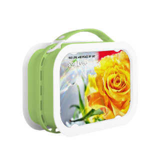 God Love Peace Lunch Box