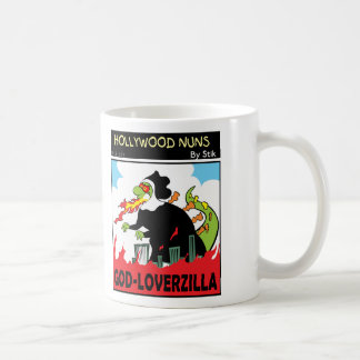 GOD-LOVERZILLA BASIC WHITE MUG