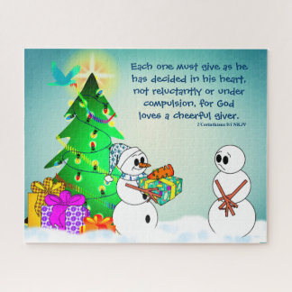 God Loves A Cheerful Giver Jigsaw Puzzle