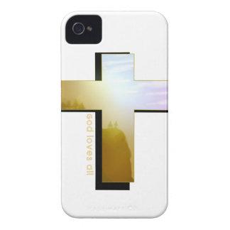 God Loves all Cross iPhone 4 Case