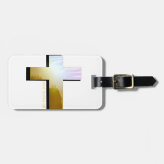 God Loves all Cross Luggage Tag