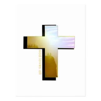 God Loves all Cross Postcard