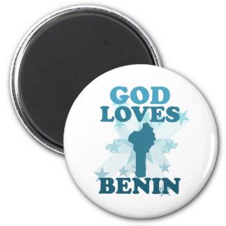 God Loves Benin Magnet