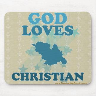 God Loves Christian Mouse Pad