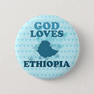 God Loves Ethiopia 6 Cm Round Badge