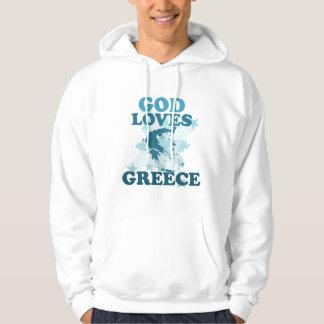 God Loves Greece Hoodie