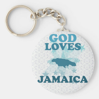 God Loves Jamaica Key Ring