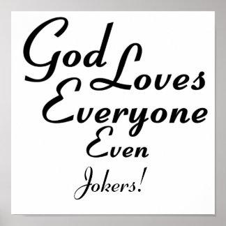 God Loves Jokers Poster